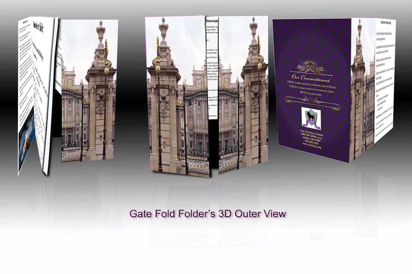 gate fold booklet folders