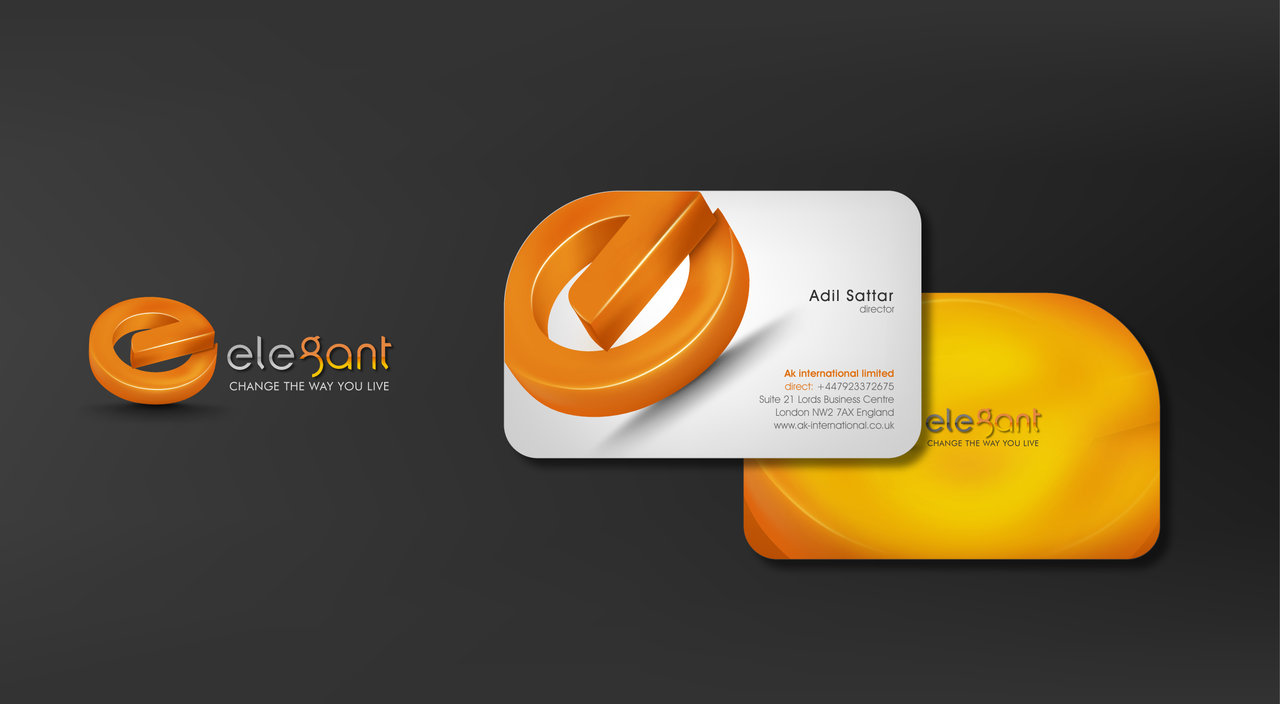 3d design logo business card - 3 D Business Card