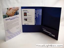 company presentation folders inserts