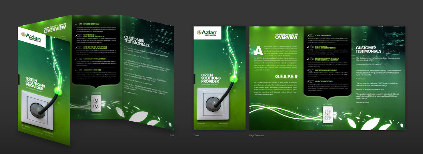 Tri-panel Brochures creative designing